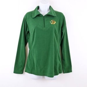 Columbia Green Fleece Pullover with Gold Lion Head